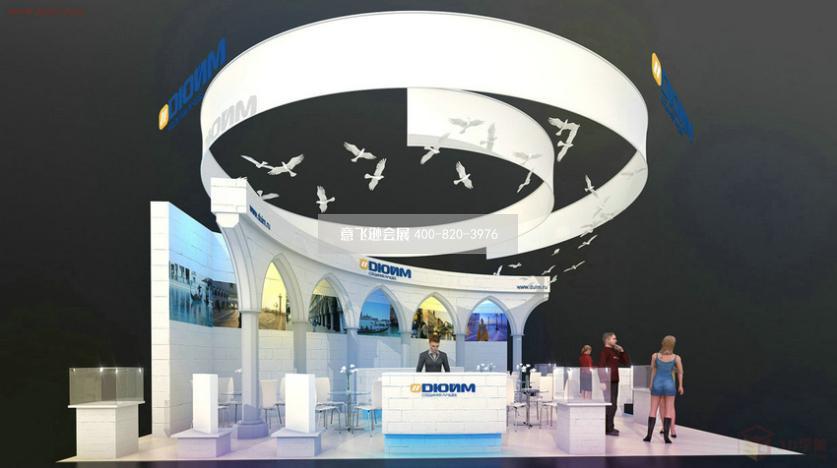 国外创意展台设计效果图,科技展台设计效果图