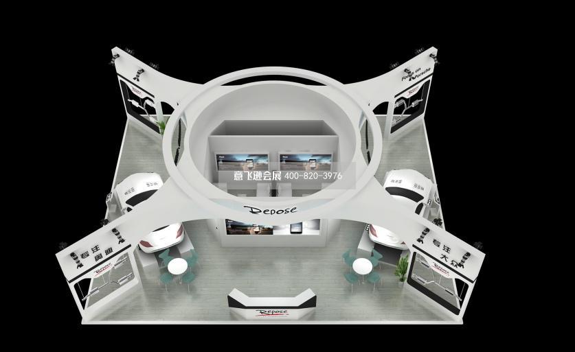 道爵电动汽车展台设计,电动汽车展台设计效果图方案300m 长沙车展展台