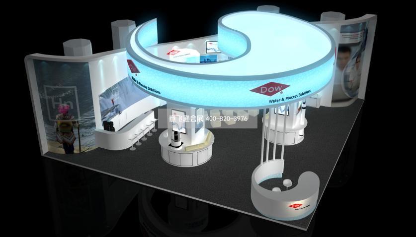 陶氏化学化工国外创意展台设计效果图