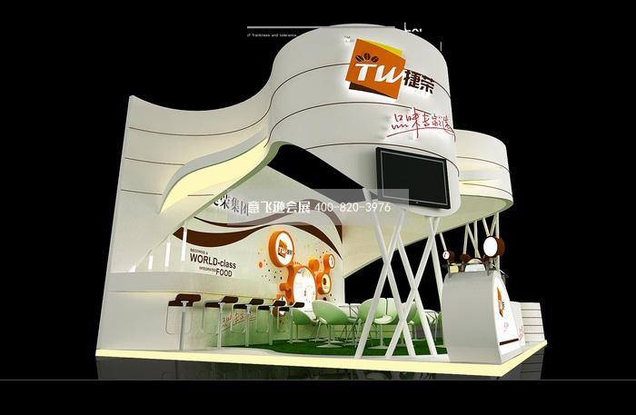 捷荣集团食品展台设计效果图图片